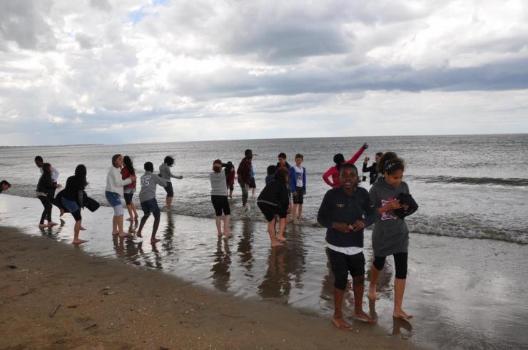 La plage avant la pluie (1)