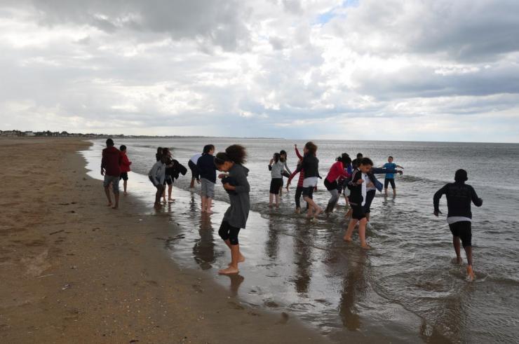 La plage avant la pluie (2)